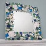 Sea Glass & Seashell Mirror..