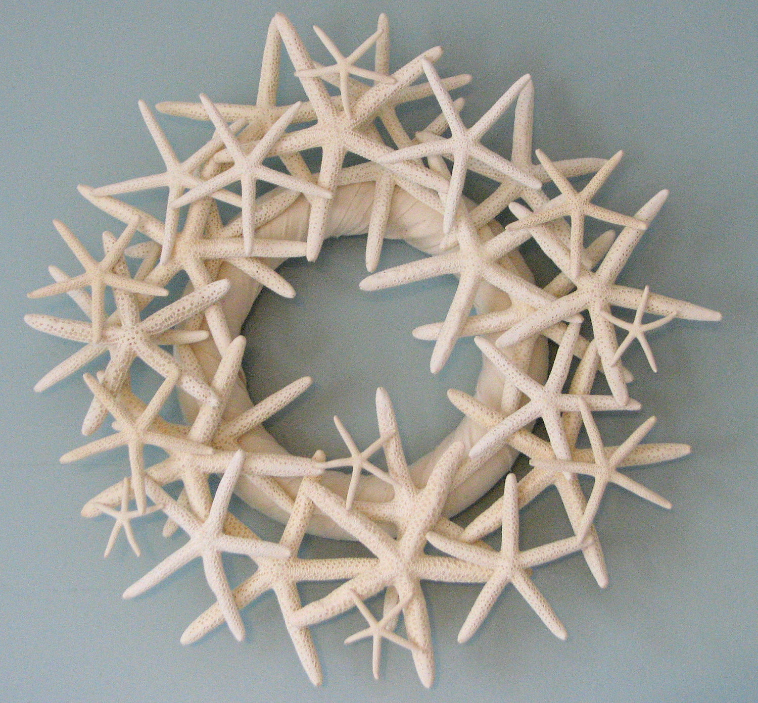 Beach decor starfish wreath seashell wreath for nautical for Beach design
