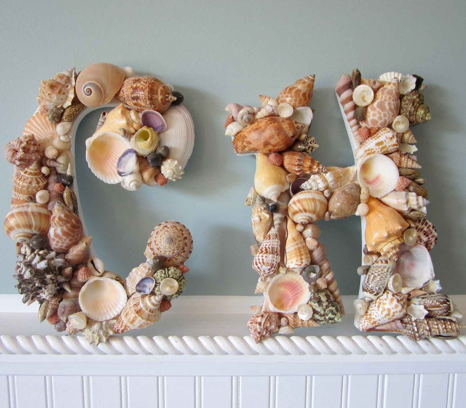 shell letters for beach decor any 2 nautical decor seashell letters natural colors
