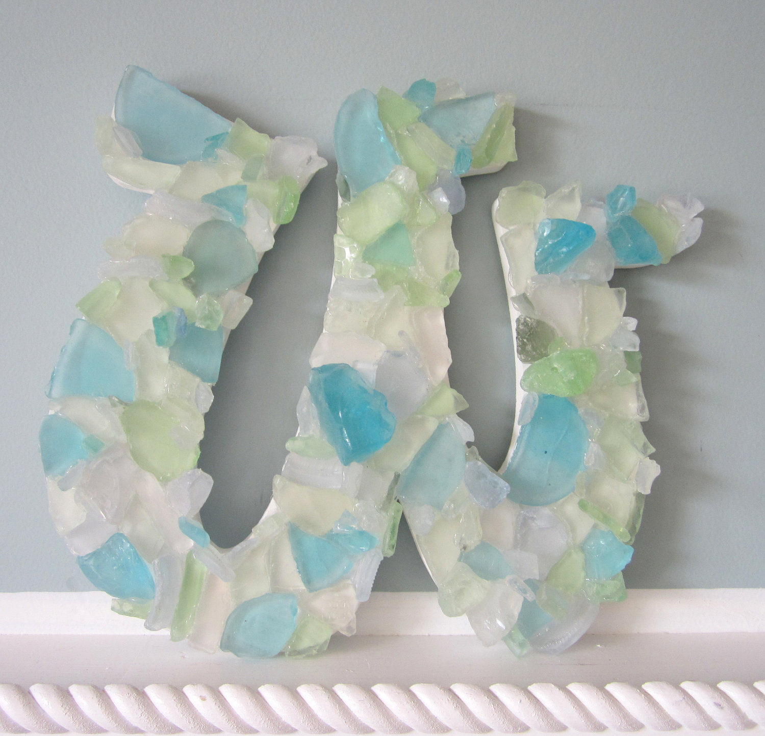 nautical decor wall letters sea glass beach decor glass letters any color any 4